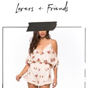 Lovers + Friends Embroidered Boho Romper  S | EUC